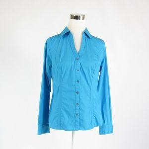 Express blue button down blouse M